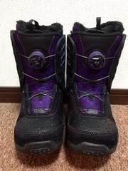 K2   女性用 ダイヤル式スノーブーツ  紫