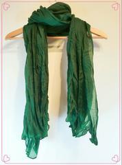 羽織り シンプル ストール大判 レディースロングマフラー緑