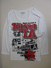 kitsonキットソンホワイトプリントTシャツセレブ愛用ニコールパリス