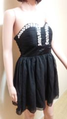 ATELLA  GLASS…胸元ビジュ�Aチュールのドレス☆3点で即落☆