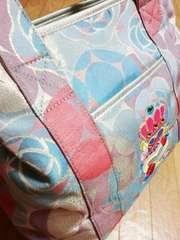 サボイ/SAVOY 薔薇柄メタリック模様トートバッグ