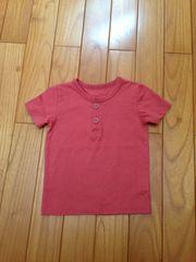 ベルメゾン Tシャツ ヘンリー レッド 美品 70