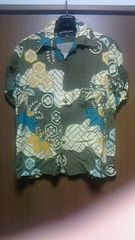 hidehiko yamane 100%DESIGN 家紋入り和柄アロハシャツ