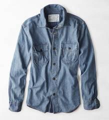 【American Eagle】Vintage AEOデニムワークウェアシャツ XXXL/インディゴ