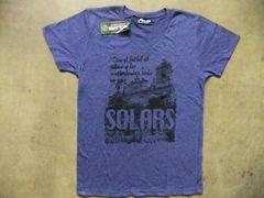 SOLARS(ソラルス) フットサルやサッカー普段着/半袖T 紺 L