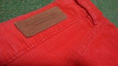 H&M コーデュロイ? 真っ赤派手 ミニスカート