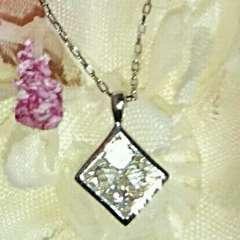 k18天然ダイヤモンド0.2ctプリンセスカットネックレス♪