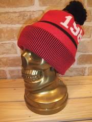 【新品☆男女兼用】TOMMYボンボンニットキャップ赤♪帽子トミー
