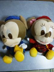 ディズニー:ミニー&ミッキー幼稚園ビッグぬいぐるみ非売品