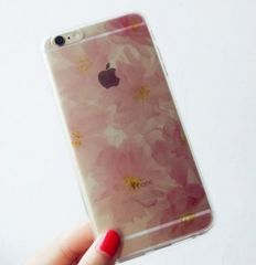 ◆新品◆iPhone6Plus / 6sPlus 花柄TPUソフトケースクリアケース