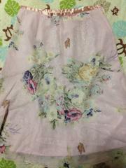 L'EST ROSE レストローズ 花柄シフォンスカート