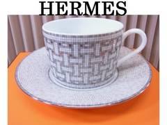 HERMES エルメス ティーカップ&ソーサー モザイク ヴァンキャトル 未使用★dot