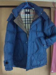 新品正規英国Burberryバーバリーチェックダウンハーフコートジャケット暖か