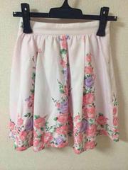 プライムパターン花柄スカート、ピンク