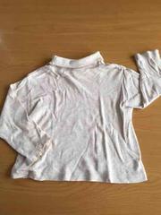 美品!タートルネックキナリ長袖Tシャツ!