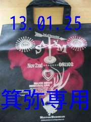 2008年[メジャー記念]トートバッグ◆黒×赤ver.◆最終値下げ即決