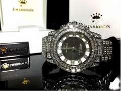 UK産SV shine美しすぎる電波ソーラージョンハリソン宝石腕時計