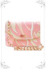 半額以下美品■Radyレディ財布バッグチェーンマーブルピンク