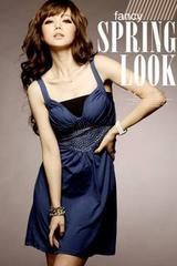 ドレス ワンピース Mサイズ ブルー