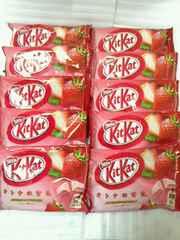 キットカット オトナの甘さ こだわりストロベリー 12枚×10袋 詰め合わせ チョコ