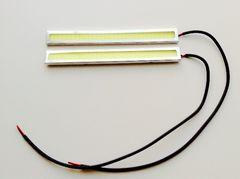 14cm 12V用 COB LEDデイライト ホワイト 2個セット 銀枠