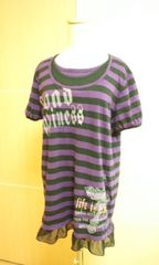 大きめ3L…メタルロゴ&裾ヒラ�Aチュニワンピ☆3点で即落☆