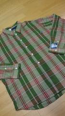 Stussyデザインチェック長袖シャツ 緑グリーン系 サイズXL