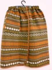 スカートケット ラップスカート フリース 北欧柄 63x125cm