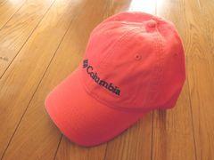 コロンビアコットン100%帽子 フリーサイズ オレンジ色