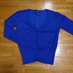 NAVANA/ナバーナ/シンプルカーディガン/青/ブルー/フリーサイズ