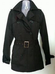 EGOISTエゴイスト形が綺麗なPコート【ブラック】