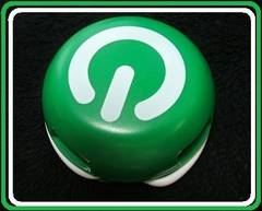 非売品新品パソコン電源ボタン風タバコノベルティUSBハブHUBグリーン色