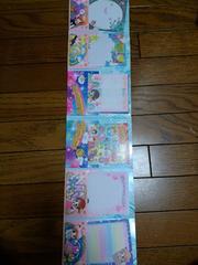 新品★雑誌付録★漫画キャラいっぱい『シール付 レターセット』