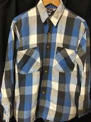 80's BIG MAC ネルシャツ 青 USA製 L チェック
