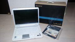【美品】SONY Core2Duo 2.1GHz 1GB 160GB Vista VGN-NR72B