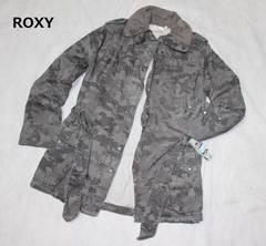 ロキシー*ROXY迷彩柄*中綿ジャケットコート(Lサイズ)新品