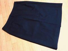 【大きいサイズ】コムサイズム/COMME CA ISM膝丈スカート黒
