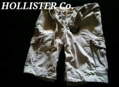 【Hollister】Vintage Destroy ベルト付 デストロイカーゴショーツ 36/Stone