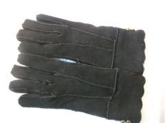 ムートン日本Mサイズブラウン手袋USA製羊皮革