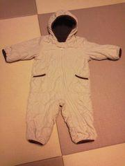手足カバー付きジャンプスーツ 防寒着 ベージュ×ブラウン 80 男女