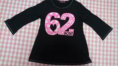 RONI ロニィ 七分袖Tシャツ M130 黒