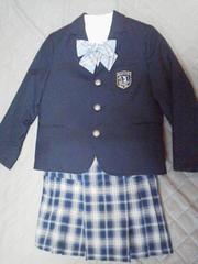 入学式卒園式コムサイズムジャケットスカート120ブラウスりぼん4点