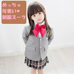 ★新品★フォーマル ジャケット+スカート グレー 130