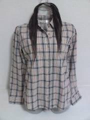 ○チェックシャツ/M