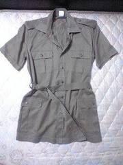 トレンチミリタリーシャツ送料込/メンエグロックアメカジ半袖お兄系軍コート
