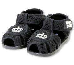新品BABYDOLL☆メッシュ サンダル 15cm 黒 王冠 靴 ベビードール