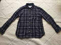★新同美品★チェックシャツ★グレー★Mサイズ★