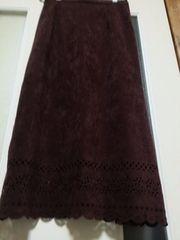美品・大きいsize☆ロングスカート《茶》13号