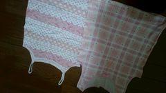 130�p女の子 キャミ、タンクトップ下着 ピンクハート柄