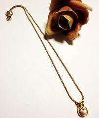 クリスチャンディオール/Dior ストーン付きゴールドネックレス